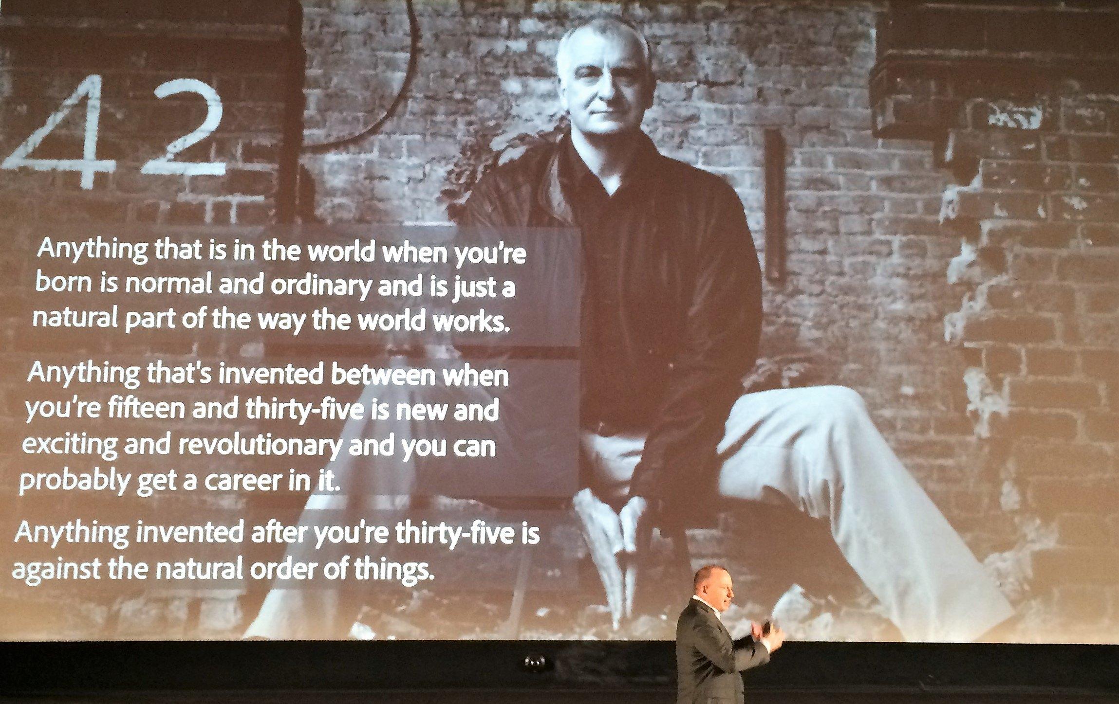 Douglas Adams über die Wahrnehmung von Innovation