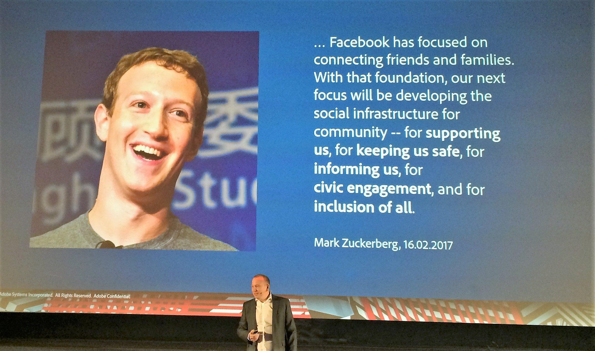 Mark Zuckerberg über die Vision von Facebook