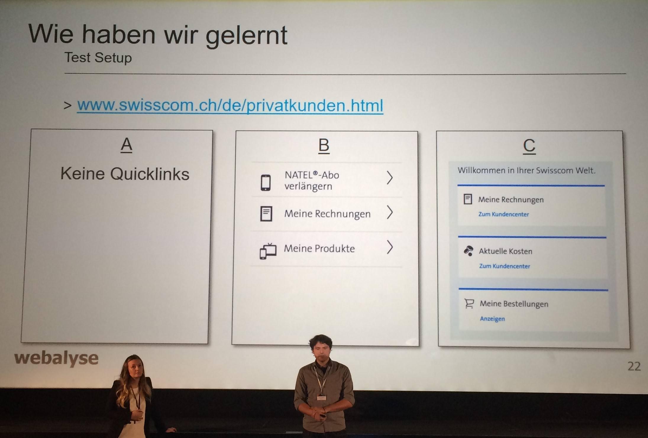 A/B-Testing bei Swisscom