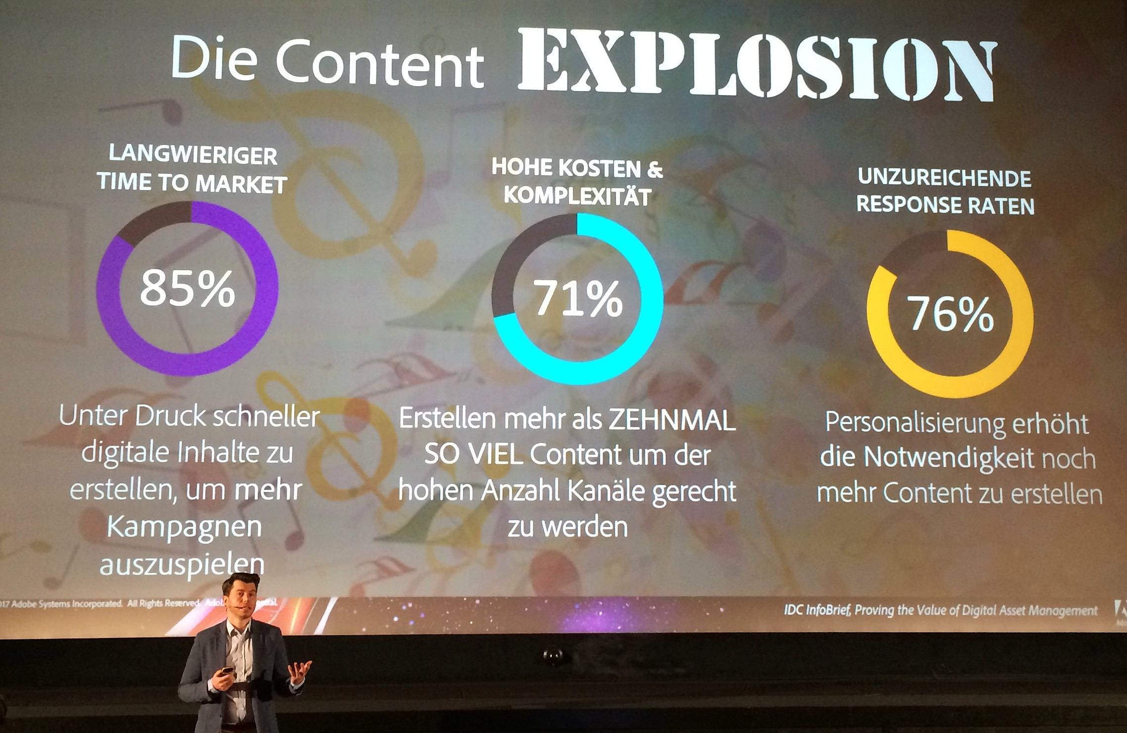 Vortrag von Timo Kohlberg über die Explosion der Anzahl Inhalte