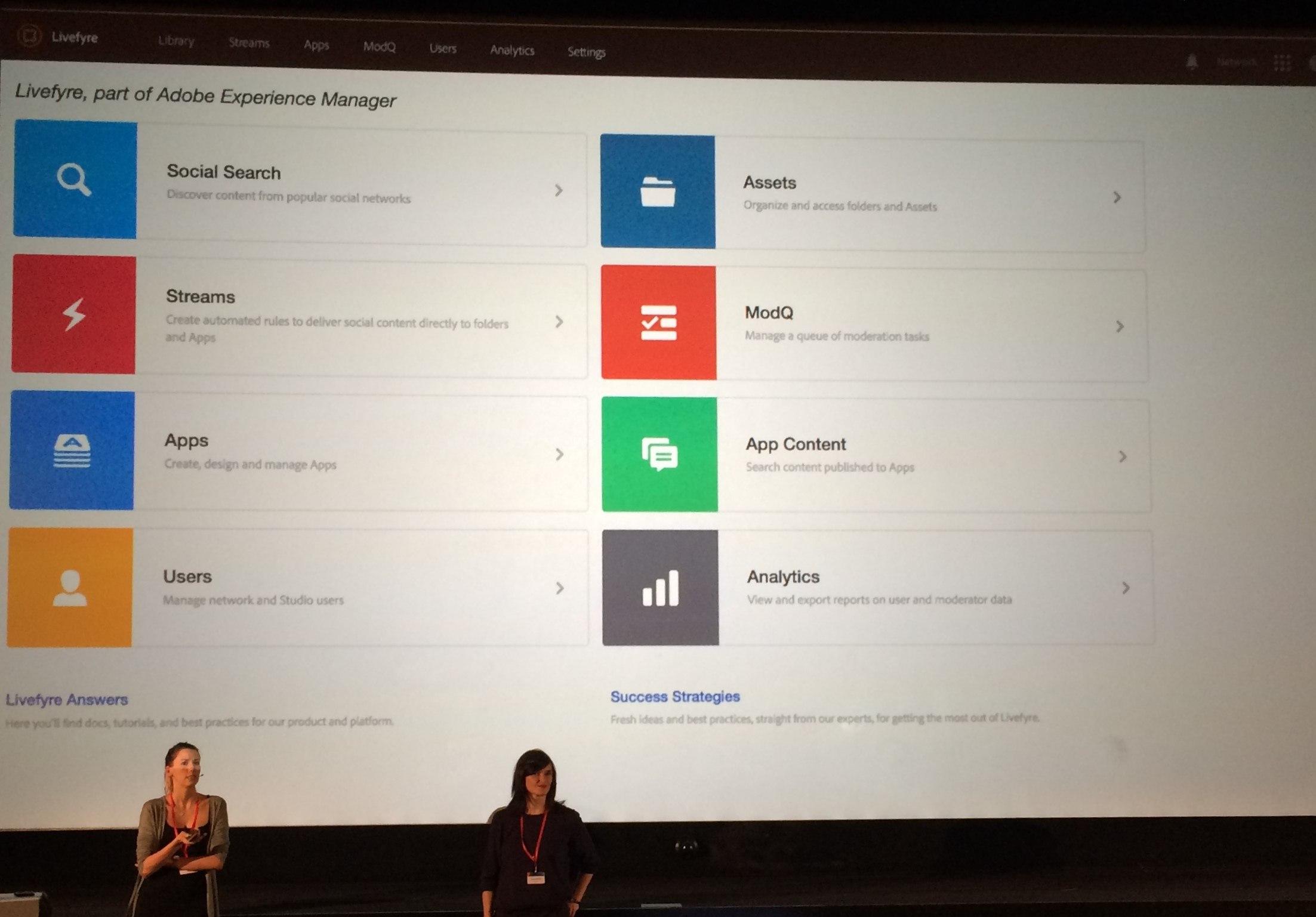 Screenshot von Adobe Livefyre aus dem Adobe Experience Manager