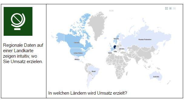 IBM Watson Analytics zeigt Umsätze visuell auf Landkarte
