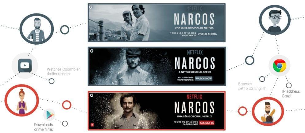 """Verschiedene Werbemittel für den Netflix Film """"Narcos"""""""