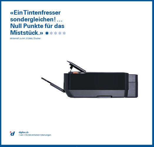 Werbeplakat von Digitec für einen Tintenstrahldrucker