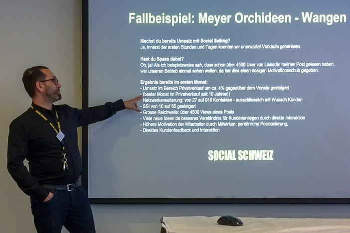 Baschi Sale über erfolgreiches Social Selling des Orchideen-Händlers Meyer
