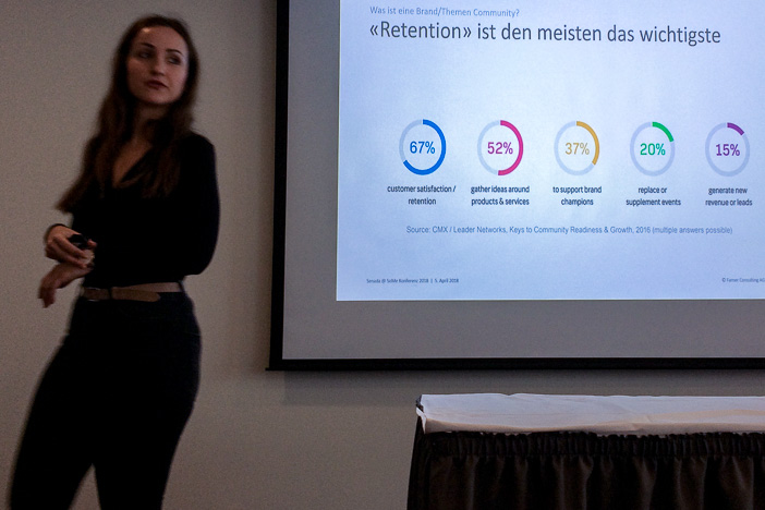 Retention ist ein zentraler Aspekt von Brand Communities gemäss Senada Haralcic von Farner Consulting