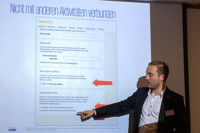 Daniel Seiler am Internet-Briefing über die granulare Einwilligungsmöglichkeit für Nutzer