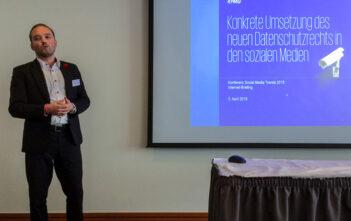 Daniel Seiler von KMPG am Internet-Briefing Zürich über die Umsetzung der DSGVO