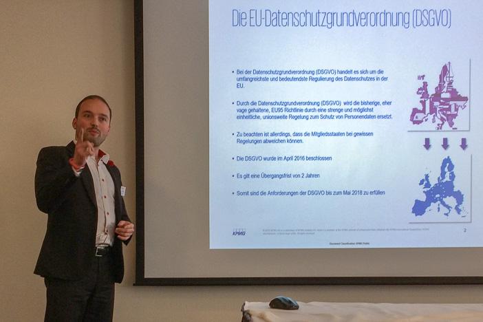 Daniel Seiler von KMPG am Internet-Briefing über die EU-Datenschutzgrundverordnung