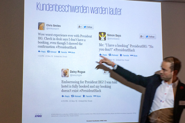 Daniel Seiler am Internet-Briefing über das Datenleck bei President HG