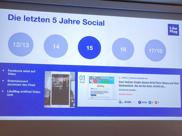 2015 setzt Facebook auf Video