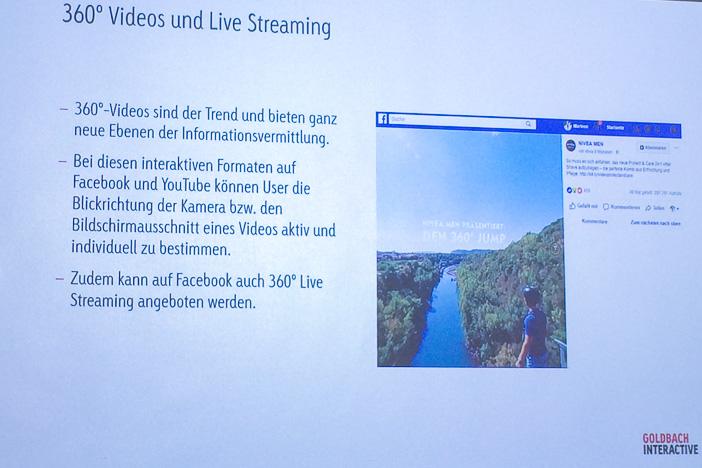 360-Grad Videos und Live Streaming