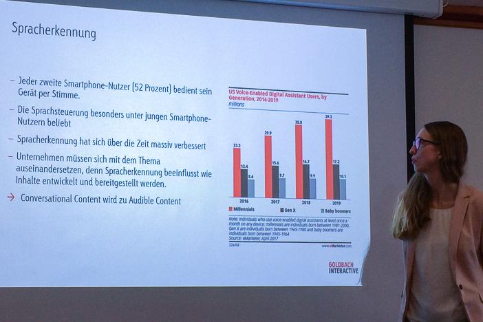 Sprachsteuerung fordert nach Audible Content gemäss Marleen Albert von Goldbach Interactive